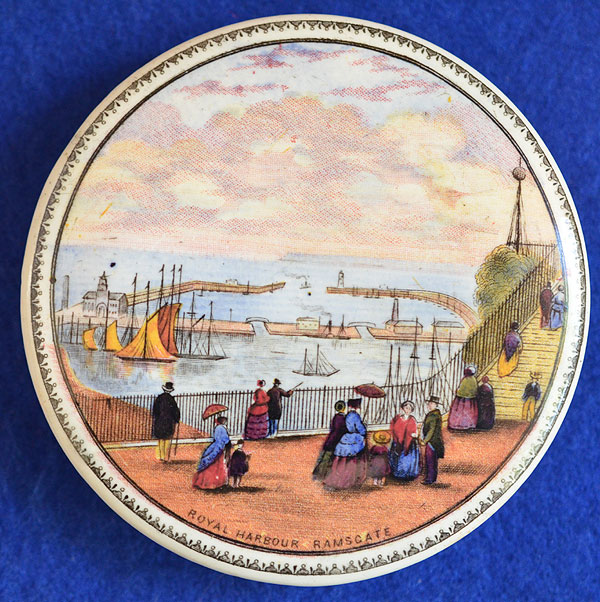 PRATT WARE POT LID, ROYAL HARBOUR RAMSGATE.