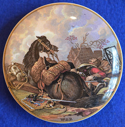 PRATT WARE POT LID, WAR.