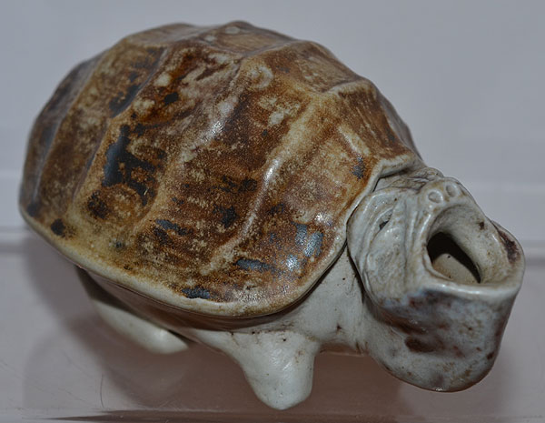 MARTIN BROTHERS GROTESQUE TORTOISE INKWELL.