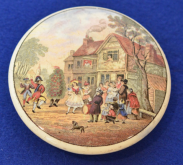 PRATT POT LID, MAY DAY DANCERS AT THE SWAN INN.