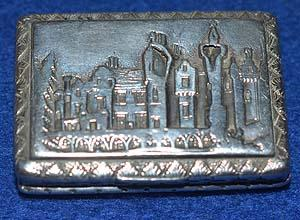 VICTORIAN SILVER CASTLE TOP VINAIGRETTE OF ABBOTSFORD HOUSE.